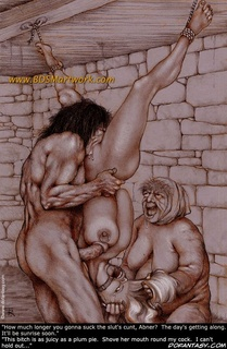 Slave art. You're slave girl...you like my man's cock don't you! We'll have a word or two about this later you and me!