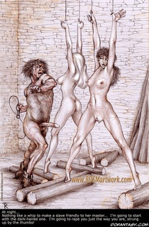 Slave cartoons. Nothing like a whip to make slave friendly to her master...