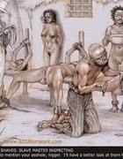 Submission art. Slave beeing selected by the wife of of the plantation