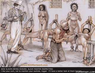 Submission art. Slave beeing selected by the wife of of the plantation owner!