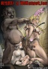 Slave cartoons. Black fat guy enjoys two his white slaves!