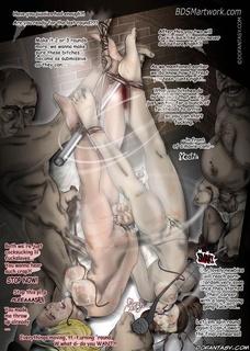 Slave cartoons. Black fat guy enjoys two his white slaves!
