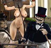 Bdsm comics. European aristocrats fuck their…