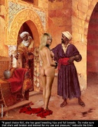 Sex slave comics. The blonde slave has yet to learn obedience. Whip her