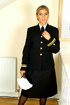 Naval uniform with black stockings