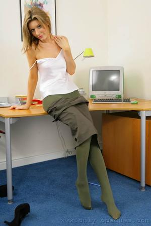 Stunning blonde Nicole in secretary outf - XXX Dessert - Picture 9