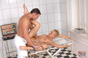 Doctor Nick fucking bound C J's pussy, a - XXX Dessert - Picture 5