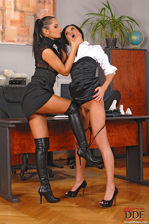 Dominant Liana spanks hot Lucy Belle's a - XXX Dessert - Picture 1