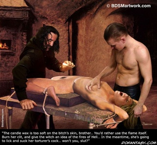 Slave art. Confess you crimes witch, when was the last time you had intercourse with the devil?