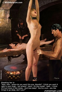 Bdsm art. It's gonna be a lot of fun, the three of us down here, partying in the dungeon...