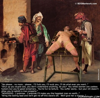 Torture drawings. Your Master's favorite pastime is to have a white slave whipped while he fucks proper woman!