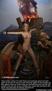 Slave art. I'll make those two fuckholes good and tight again so we can all fuck you over and over again!