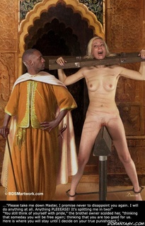 Slave comics. Carrey begged as the pain in her spine mounted!