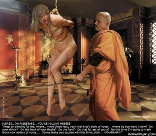 "Fetish cartoons. ""Do with this little slave as you will"", Nero told tis men!"