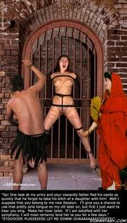 Bondage toons. Another captured slave-girl will be given to the crowds to torture!
