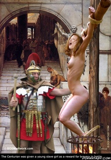Submission comics. The Centurion was given a young slave girl as a reward for bravery in battle!