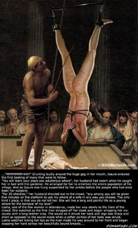 Bondage toons. Isaura was hung suspended by her ankles before the people who had once been her subject!