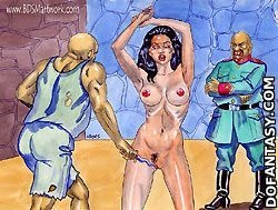Submission comics. African torture of white blonde girl!