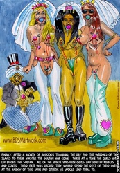 Sex slave comics. After a month of training, the day for the wedding of the slaves to their master the sultan has come!