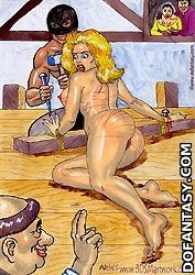 Bdsm cartoons. Girl accused in witchcraft got fucked by executioner before burning!