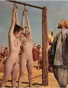 Bondage cartoons. Slave girl get their pussies…