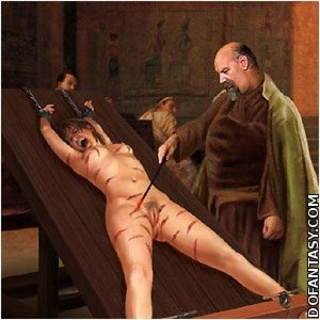 Slave art. Slaves in dark dungeons tortured by hot iron and whips!