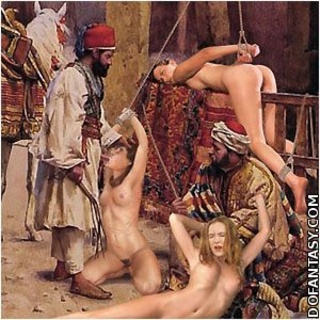 Bdsm cartoons. White girls exposed naked on the Oriental slave markets!
