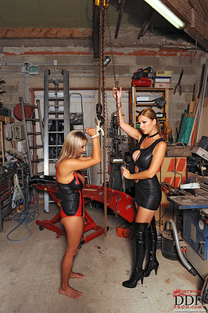Lesbian babes Carol Jannete spanking in  - XXX Dessert - Picture 3
