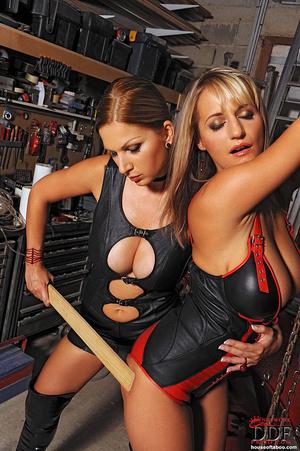 Lesbian babes Carol Jannete spanking in  - XXX Dessert - Picture 9