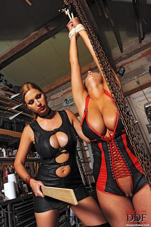 Lesbian babes Carol Jannete spanking in  - XXX Dessert - Picture 12