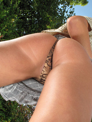 Tanning young pussy in the garden. - Sexy Women in Lingerie - Picture 4