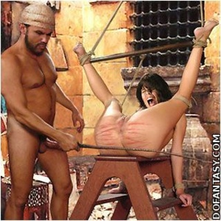 Slave comics. Harem wives watch as new slave suck their husband's cock!