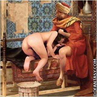 Slaves girls auction harem nude