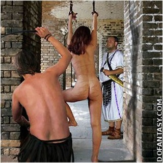 Bondage art. Slaves of Rome prepared for performance at the arena!