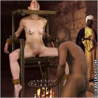 Bdsm art drawings. Western slaves learn to suck off their masters!