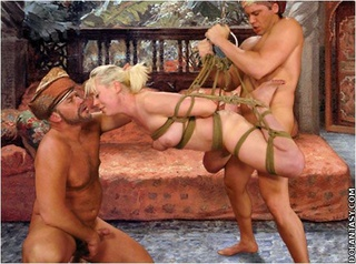 Slave girl. Slaves humiliated by using cells, wooden horse and hot iron!