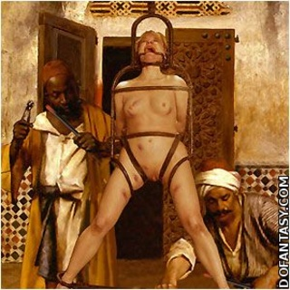 Fetish cartoons. White slaves humiliated in public!