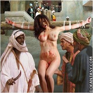 Femdom crucifiction art