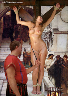 Submission. Roman overseer fucks his slave after whipping her!
