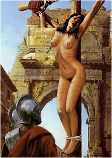 Sex slave comics. Captured girl humiliated in front of Caesar!