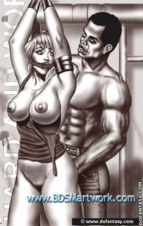 Bondage art. In 2050 women are nothing, but fuck toys for men!
