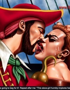 Bdsm comics. Cruel pirate fucked his redhead captive girl!