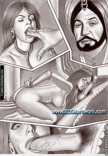 Bdsm art drawings. Tied to the chair slave suffers a great pain!