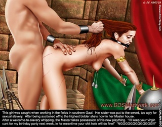 Bondage comics. Mayor's daughter captured in the Middle East!