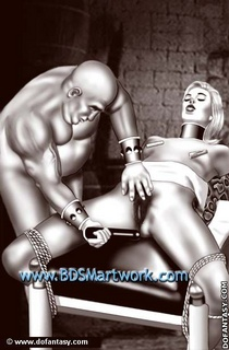 Bondage cartoons. Captured girl bound tight and forced to ride her master's cock!