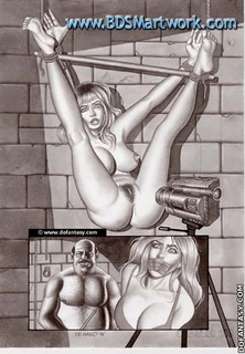 Bdsm comics. They captured young girl and torture her in front of camera!