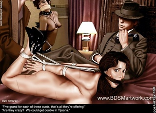 Fetish cartoons. Gangsters captured young girl ang gonna film her naked!