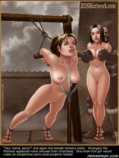 Slave girl. She knew this girl would make an exceptional pony once properly heeled.