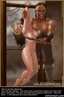 Slave girl. She is tamed, mistress.