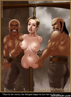 Submission. Then to her horror, the mongols began to turn her on the peg..